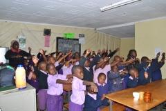 kids rejoicing
